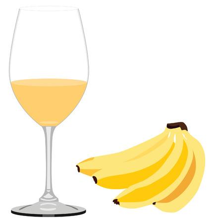 alimentacion sana: Zumo de pl�tano comida sana, fruta fresca, comida Vegetrian, frutas ex�ticas