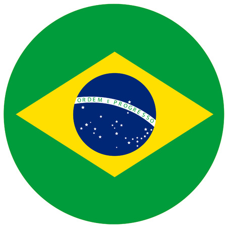 brazilian flag: Vector illustration of brazil flag. Round national flag of brazil. Brazilian flag