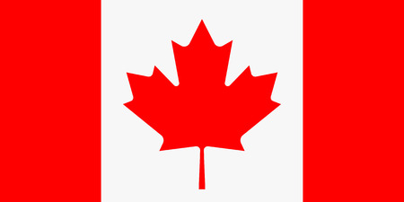 canadian flag: Vector illustration of canada flag. Rectangular national flag of canada. Canadian flag