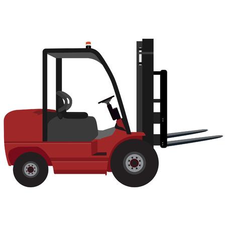 car loader: Loader car for carton box delivering vector illustration. Delivery service icon