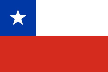 Vector illustratie van de vlag van chili. Rechthoekige nationale vlag van Chili. Chileense vlag