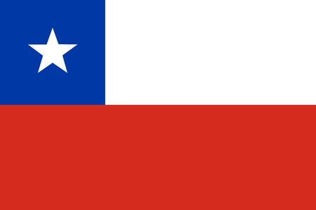 chilean flag: Vector illustration of chile flag. Rectangular national flag of chile. Chilean flag