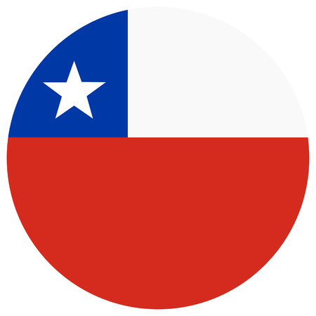 chilean flag: Vector illustration of chile flag. Round national flag of chile. Chilean flag
