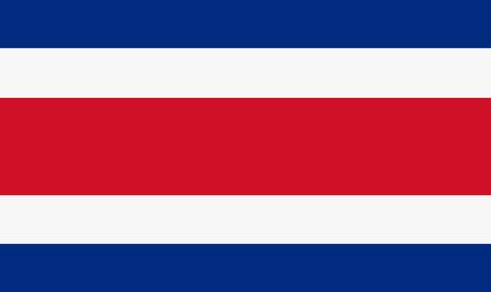 bandera de costa rica: Ilustración del vector de la bandera de Costa Rica. Bandera nacional rectangular de Costa Rica. Vectores