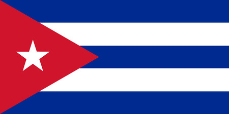 Vector illustration of cuba flag. Rectangular national flag of cuba. Cuban flag