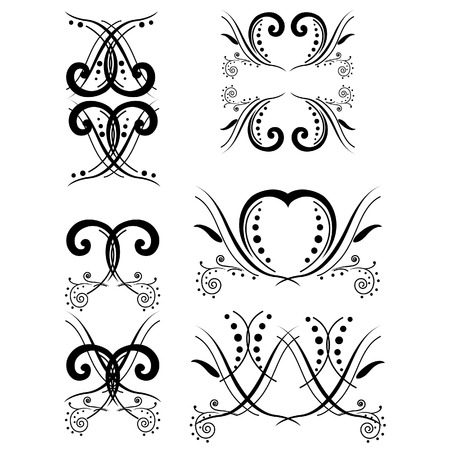 swirls: Vintage flourish swirls collection. EPS10 vector decorative elements. Vector swirl elements for design Illustration