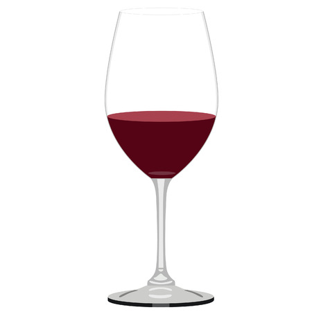 wine glass: Illustration of glass of wine,  wine, glass, wine glasses, wine glass isolated, red wine glass, wine tasting