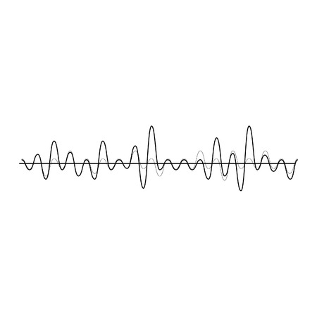 Vector illustration of sound wave. Audio equalizer technology, pulse musical.