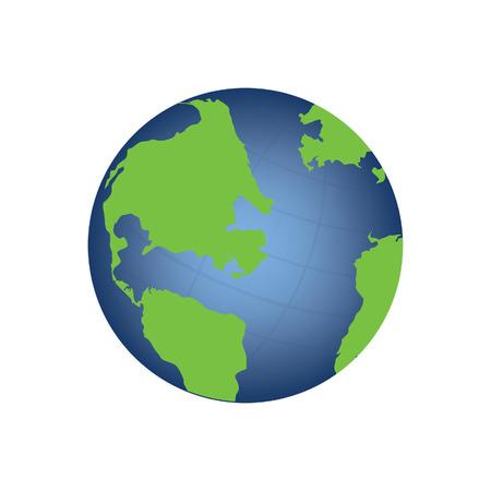 Vector illustration of world globe. Globe icon. Earth globe