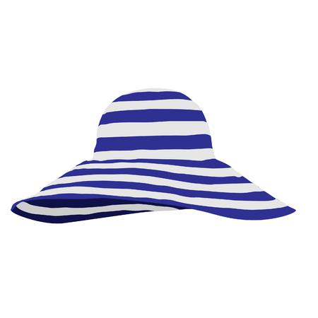 brim: Beach hat, hat raster, beach hat isolated Stock Photo