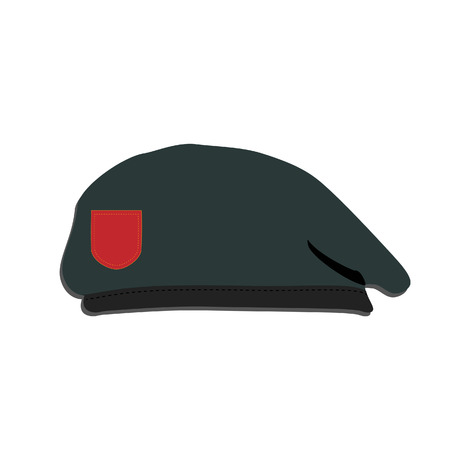 military beret: Illustration of army beret,  hat,  beret isolated,  army beret, cap, military beret