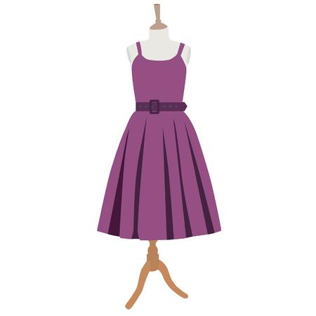 purple dress: Purple dress, dress on mannequin, clothes, vintage
