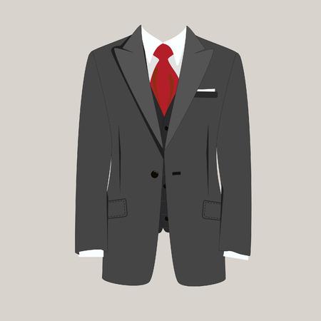Illustratie van de man pak, stropdas, pak, zaken, man pak, man in pak