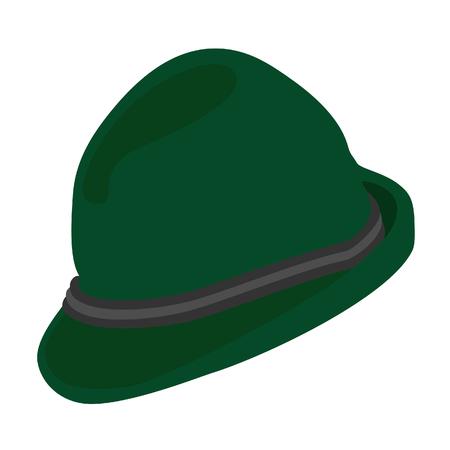 a hat: German hat, german alpine hat, bavarian hat, tirol hat