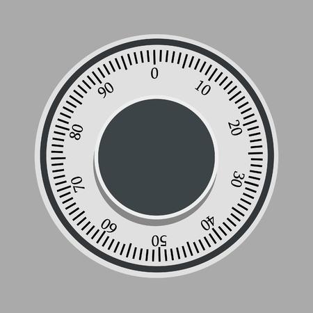 caja fuerte: Ilustración del vector del bloqueo de seguridad de un banco. Icono del dinero del seguro. Caja fuerte de acero. Concepto de seguridad de metal con icono de seguros Vectores