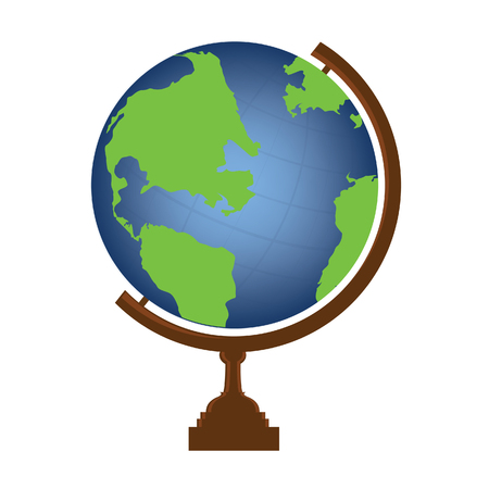 school globe: Vector illustration of world globe. Globe icon. School globe. Earth globe.