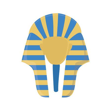 tutankhamen: Vector illustration egyptian mask of Tutankhamen. Golden mask of egypt pharaoh