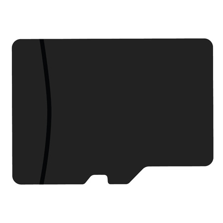 sd: Vector illustration black sd memory flash card back view. Micro sd card icon Illustration