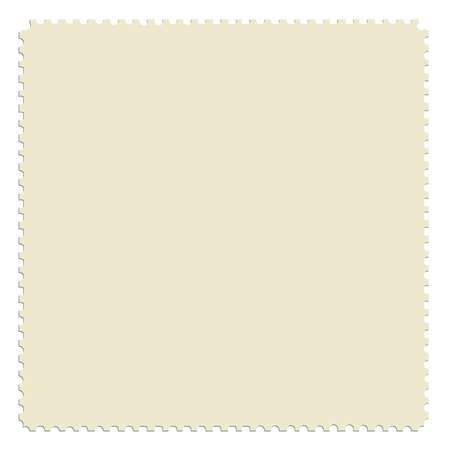 teared: Square post stamp template. Empty postage stamp vector icon