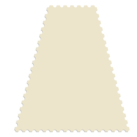 teared: Trapezium post stamp template. Empty postage stamp vector icon Illustration