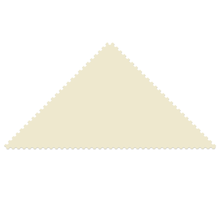 post stamp: Triangular post stamp template. Empty postage stamp vector icon Illustration