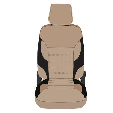asiento coche: Ilustración vectorial de color marrón y el asiento del coche deportivo negro Vectores