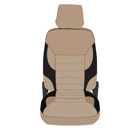 car seat: Vector illustration brown and black sport car seat