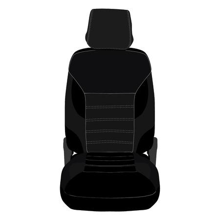 kph: Vector illustration black sport car seat. Automobile detail