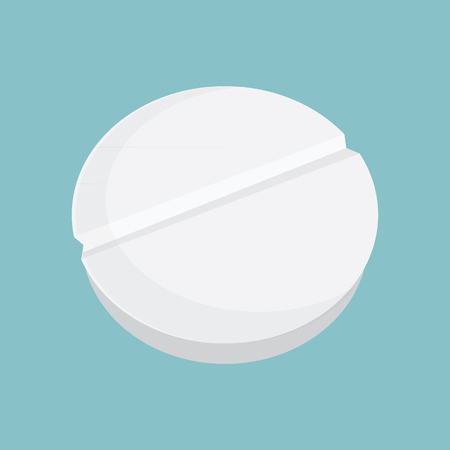 capsules: Medicine vector icon pills or tablets, capsules on blue background. Illustration