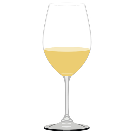 wineglasses: Vector illustration of white wine glass. Glass of wine
