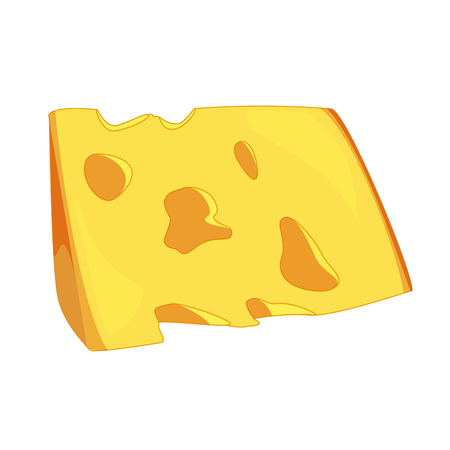 edam: Illustration of cheese sllice, cheese isolated