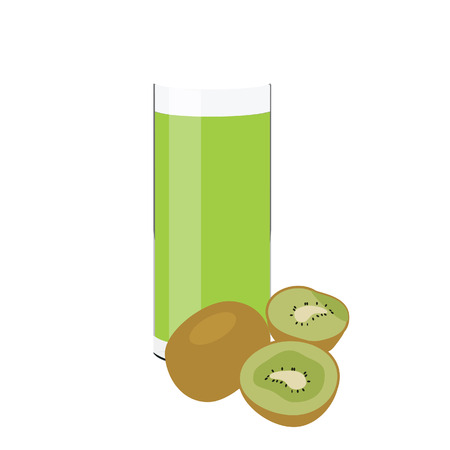 kiwi fruit: Kiwi juice, glass of juice, kiwi fruit, fruit juice Stock Photo