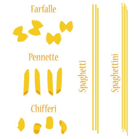 macaroni: Macaroni set raster, pasta collection, macaroni icon, pasta types names