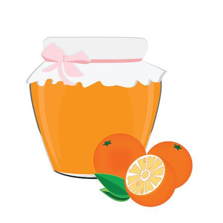 jam jar: Orange jam, jam jar, orange fruit, homemade jam