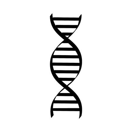 Vector illustration dna spiral black silhouette . Dna symbols icon. Genetic sign, element
