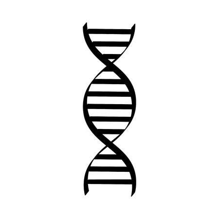 Vector illustration dna spiral black silhouette . Dna symbols icon. Genetic sign, element