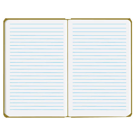 notebook: Vector illustration of blank empty notepad, notebook. Opened notebook. Notebook with lined paper