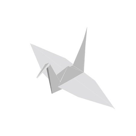 origami bird: Illustration of  origami,  origami bird,   paper bird Stock Photo