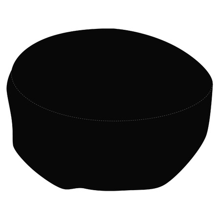 rabbi: Black kippah, jewish traditional hat raster isolated on white