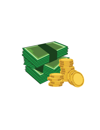 dime: Illustration of coins, money, coins raster,money raster Stock Photo