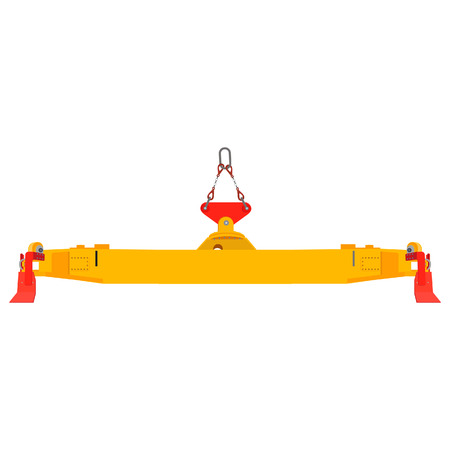 dockyard: raster illustration freight container crane for dock.