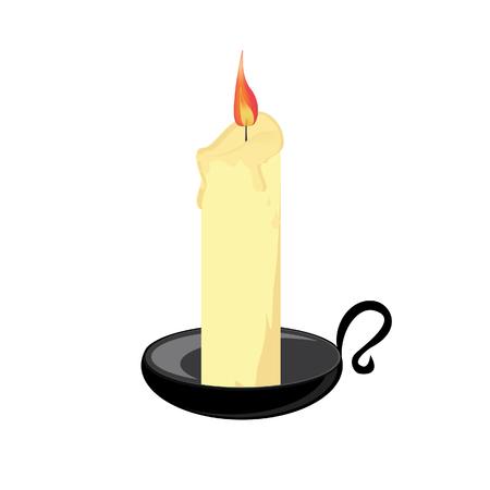 candela: Candela con supporto nero, candeliere raster isolato, Chiesa, Natale