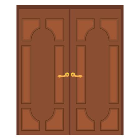 puerta madera ilustracin de la trama de la vieja puerta doble de madera puerta