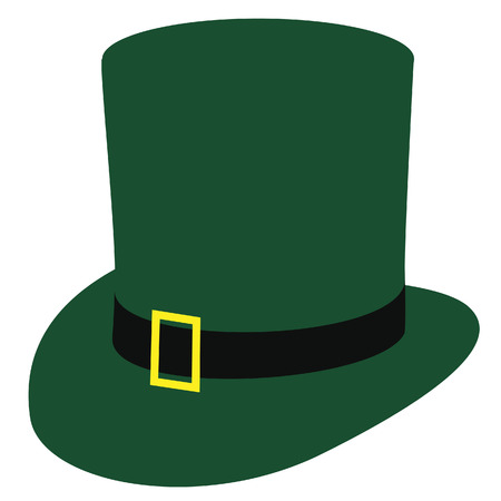 patric background: Green irish hat, st patric day hat, isolated on white