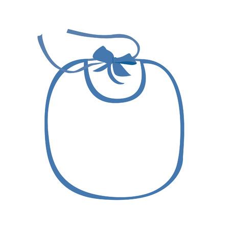 babero: babero del bebé azul de la trama muchacho aislado