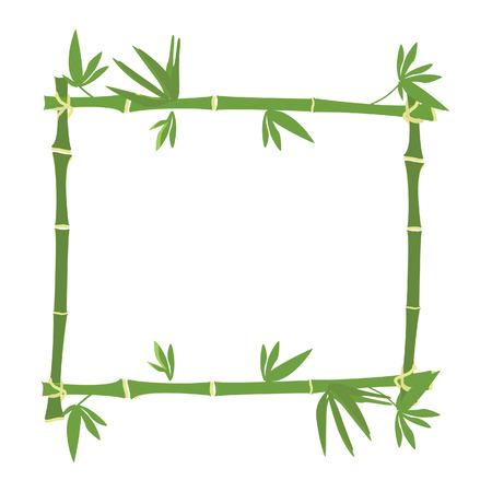 bambou: Cadre de bambou, trame de la frontière, bambou vert