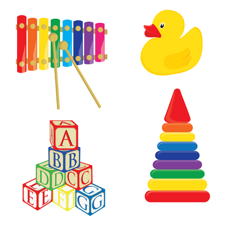 rubber duck: Baby toys xylophone, yellow rubber duck, alphabet building blocks, pyramid raster set