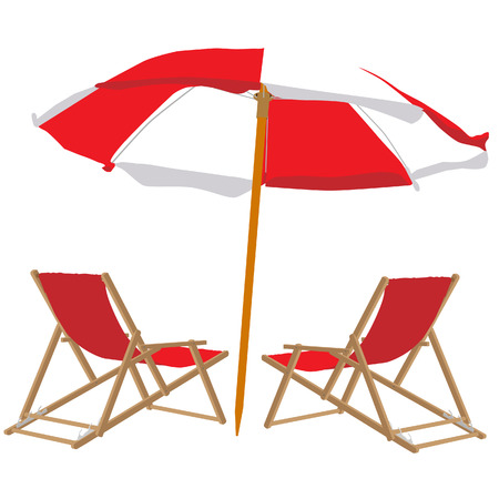 strandstoel: Strandstoel en parasol, strandstoel, parasol