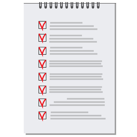 shopping list: raster list with checkboxes icon, to do list, shopping list, wish list Stock Photo
