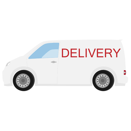 delivery car: Delivery car raster with text delivery icon, delivery truck, delivery service
